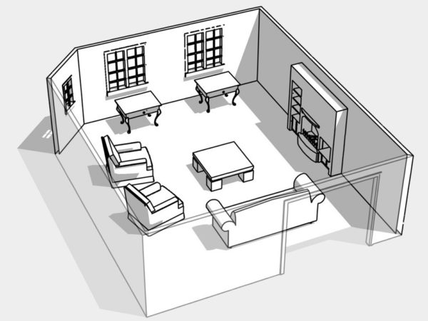 Как расставить мебель в зале: зонирование и обустройство комнаты